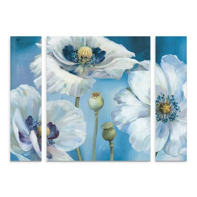 "36.5""x48"" Lisa Audit 'Blue Dance I' Multi Panel Decorative Wall Art set - Trademark Fine Art"