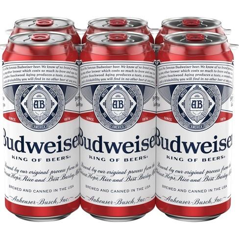 Budweiser Lager Beer - 6pk/16 fl oz Cans - image 1 of 3