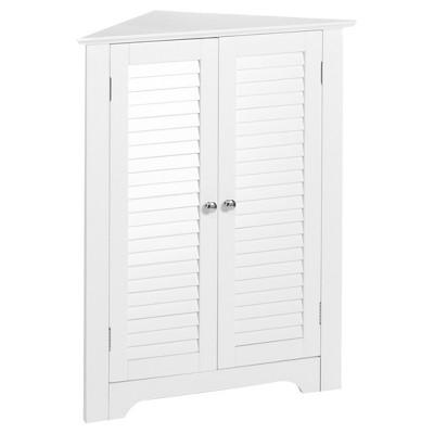 Ellsworth Collection 3-Shelf Corner Cabinet White - RiverRidge