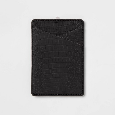 heyday™ Cell Phone Wallet Pocket - Black Croc
