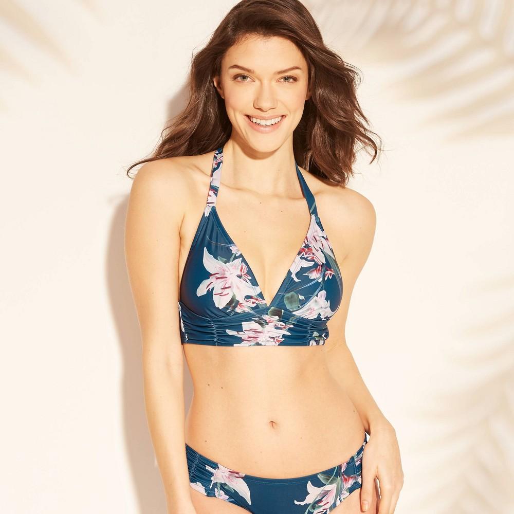 Women's Ruched Bikini Top - Kona Sol Superior Blue M