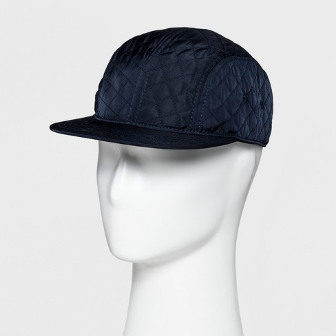 Men s Quilted Flat Bill Baseball Cap - Goodfellow   Co™ Navy One Size ad14822a6dc