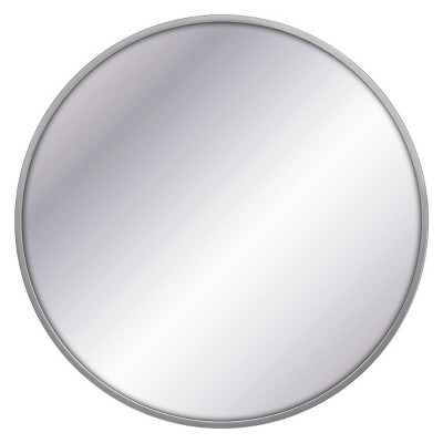 32  Round Decorative Wall Mirror Gray - Project 62™