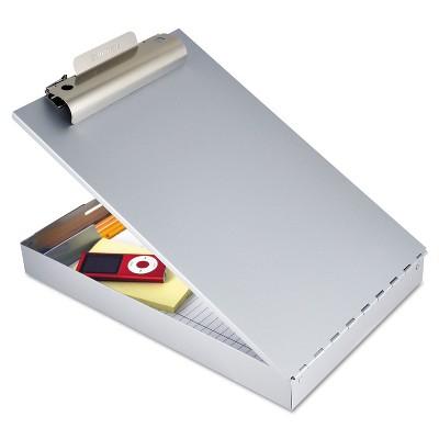 """Saunders Redi-Rite Aluminum Storage Clipboard 1"""" Clip Cap 8 1/2 x 12 Sheets Silver 11017"""
