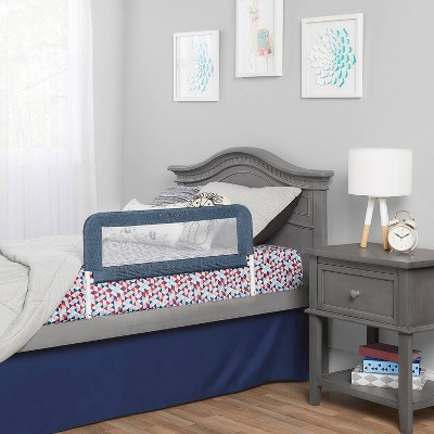 Dream On Me 3D Linen fabric and Mesh Security Bed Rail -Navy