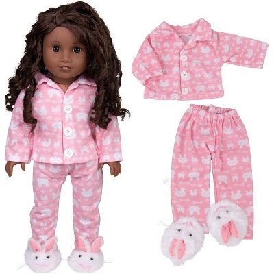 Dress Along Dolly Easter Bunny Pajamas Outfit for American Girl Doll