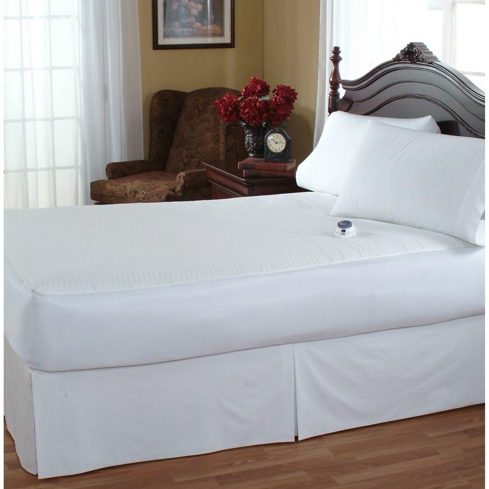 Image of California King Waterproof Low Voltage Electric Warming Mattress Pad - Serta, White