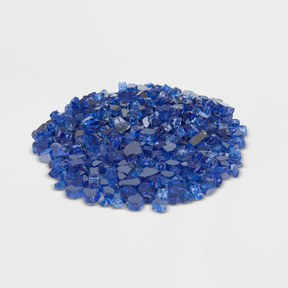 Image of 10lbs Reflective Fire Glass - Sapphire Blue - Fire Sense