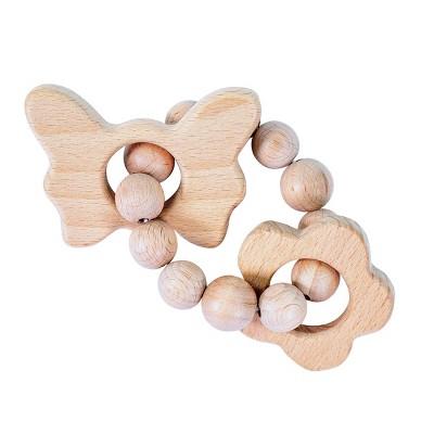 Bebe au Lait Wooden Teethers - Butterfly-Flower
