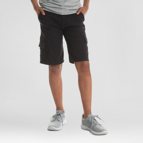 01128cf63a Wrangler Boys' Explorer Cargo Shorts - Black 16 Husky : Target