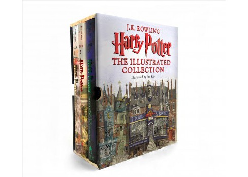 Harry Potter : The Illustrated Collection -  (Harry Potter) by J. K. Rowling (Hardcover) - image 1 of 1
