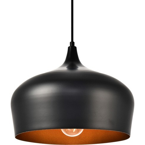 "Elegant Lighting LDPD2003 Nora Single Light 11-1/2"" Wide Pendant with an Aluminum Shade - image 1 of 4"