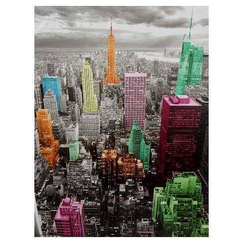 High-Lights of New York Skyline Canvas Wall Art : Target