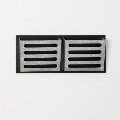 "Sullivans Dual Wall File Pocket Organizer 9.5""H Silver"