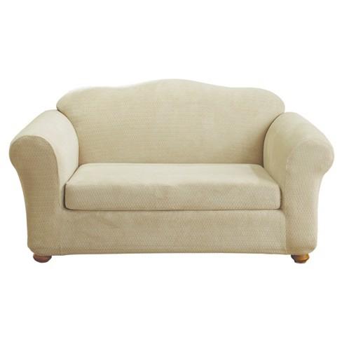 Stretch Royal Diamond 2pc Sofa Slipcover - Sure Fit