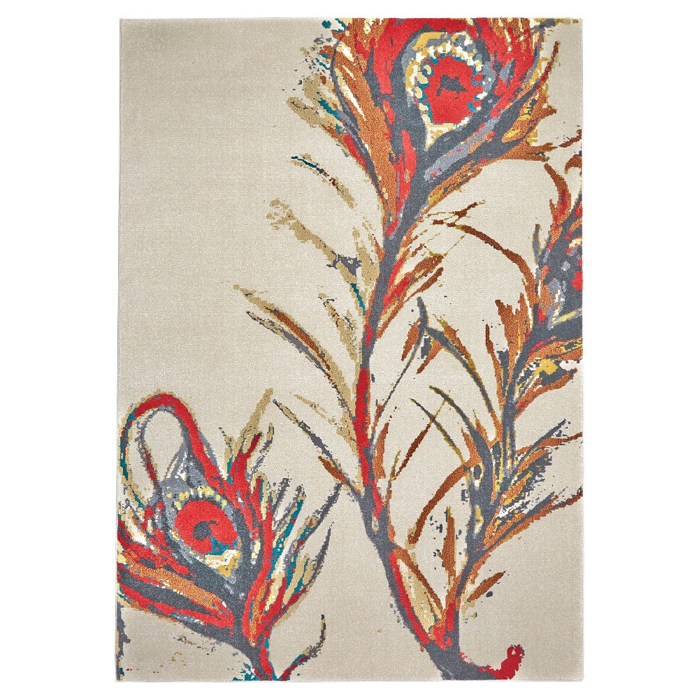 5'X8' Feather Woven Area Rugs - Room Envy, Multicolored