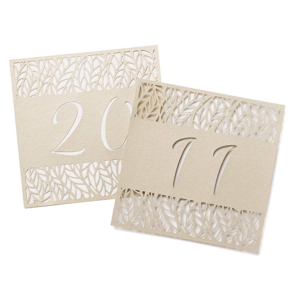 "Image of ""10ct """"11-20"""" Table Number Cards Gold"""