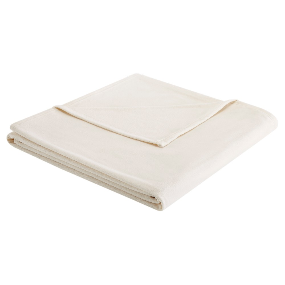 Image of 3M Scotchgard Micro Fleece Blanket (King) Ivory