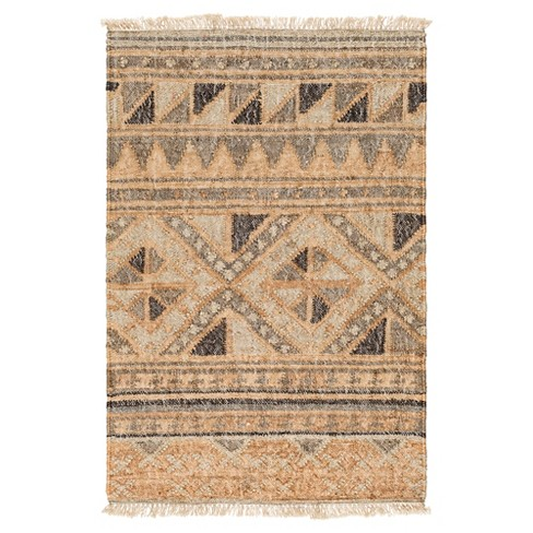 Camel Abstract Woven Accent Rug - (2'X3') - Surya - image 1 of 3