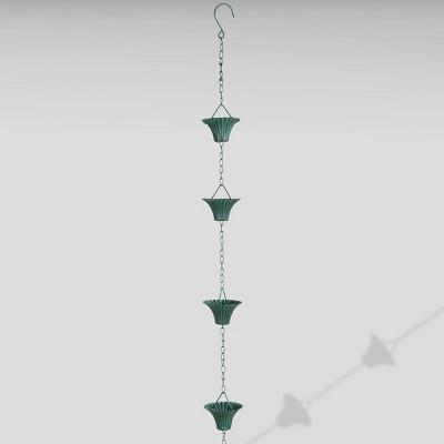 100  Iron Verdigris Rain Chain Green - Esschert Design