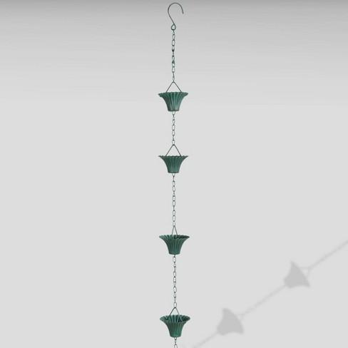 "100"" Iron Verdigris Rain Chain Green - Esschert Design - image 1 of 1"