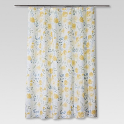 Floral Shower Curtain Yellow/Blue - Threshold™