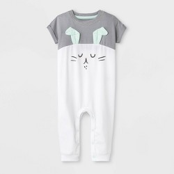 7f9c6af02 Baby Boys' Bunny Capsule Dolman Sleeve Romper - Cat & Jack™ Gray/White
