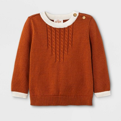 Baby Cable Pullover Sweater - Cat & Jack™ Brown