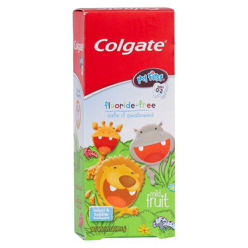 Colgate My First Baby and Toddler Toothpaste Fluoride Free - 1.75oz - image 1 of 3