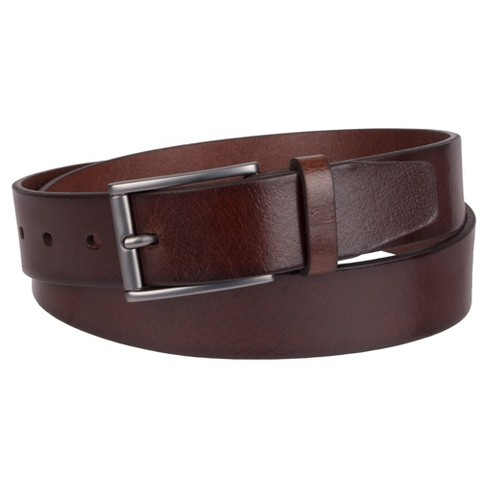 Men's 35mm Elevated Non Reversible Belt - Goodfellow & Co™ Mahogany - image 1 of 1