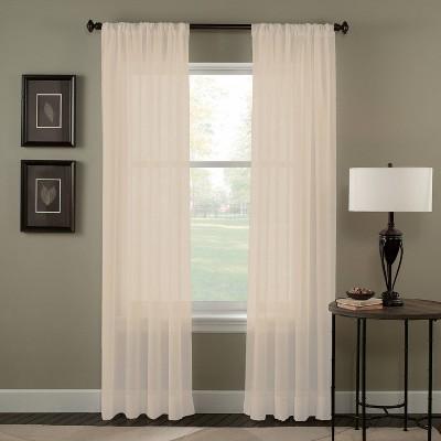Trinity Crinkle Voile Curtain Panel - Curtainworks