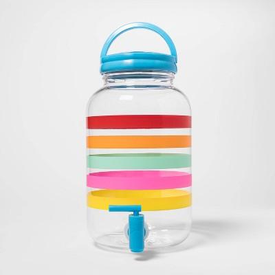 146oz Plastic Multi-Striped Beverage Dispenser - Sun Squad™