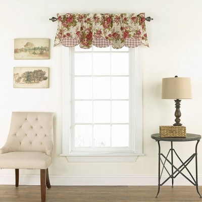 "16""x60"" Norfolk Window Valance Off White/Red - Waverly"