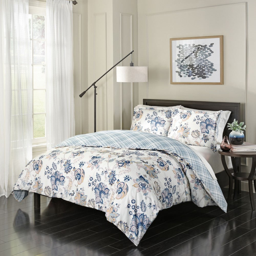 Floral Giselle Reversible Comforter Set (Queen) 3pc - Marble Hill, Multicolored