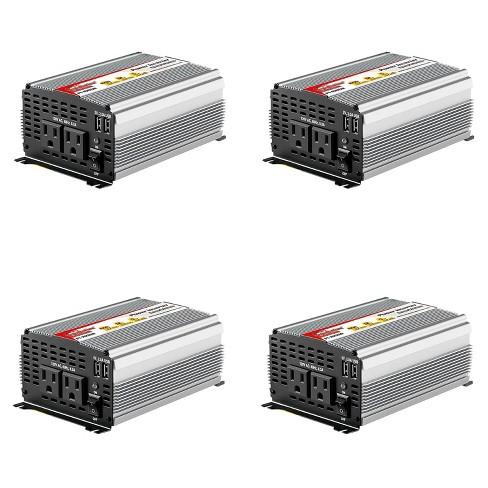 AudioPipe Pipemans 1000 Watt Max DC Plug USB 12 Volt Car Power Inverter (4 Pack) - image 1 of 4