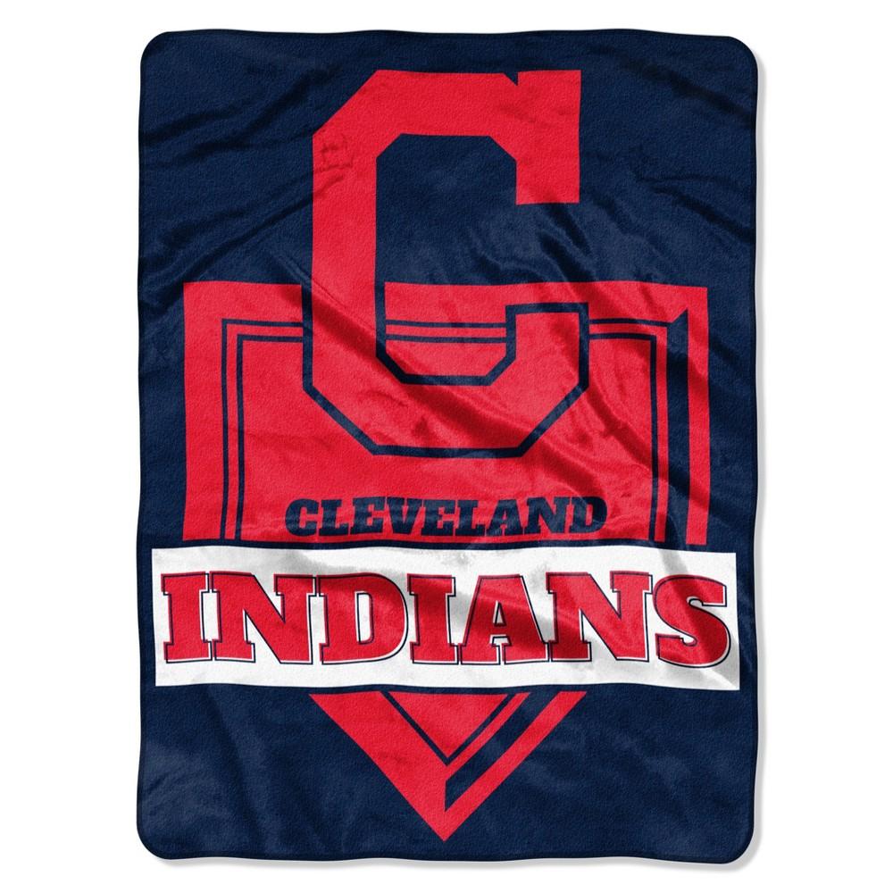 MLB Cleveland Indians Raschel Throw Blanket