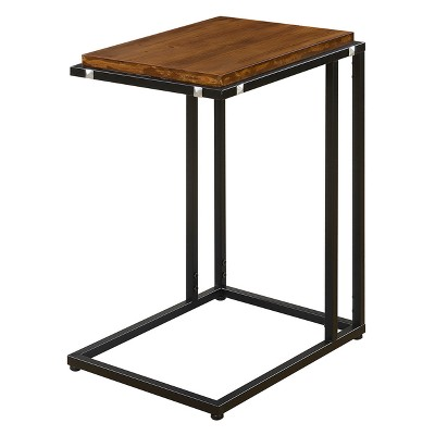 Nordic C End Table Dark Walnut/Black - Johar Furniture