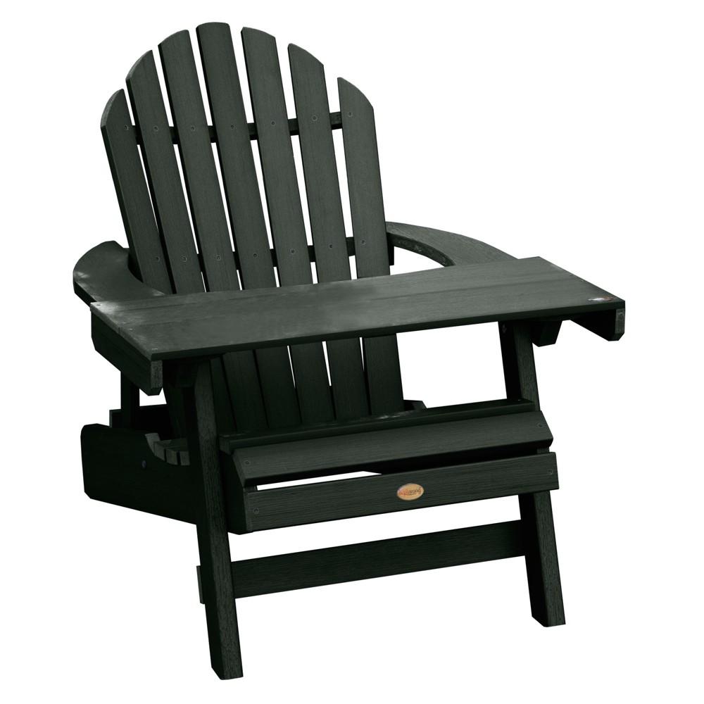 Hamilton Folding & Reclining Adirondack Chair with Adirondack Laptop/Reading Table Charleston Green - Highwood