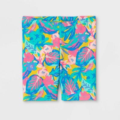 Toddler Girls' Tropical Floral Bike Shorts - Cat & Jack™