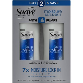 Suave Professionals Deep Moisture Replenish Shampoo And Conditioner - 28 Fl Oz / Each, Pack Of 2 : Target