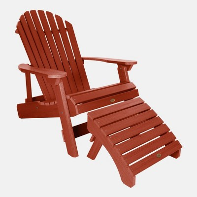 King Hamilton Folding Patio Adirondack Chair & Ottoman - highwood