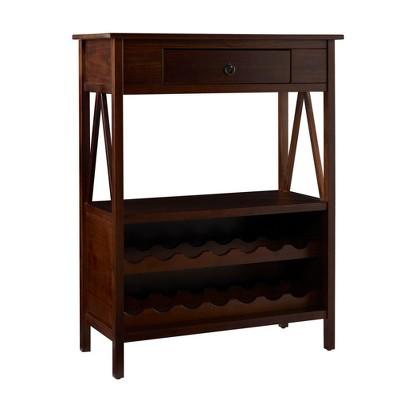 Titan Wine Cabinet Tobacco - Linon