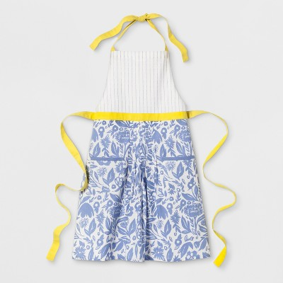 Floral Apron Blue/Yellow - Opalhouse™
