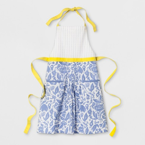 Floral Apron Blue/Yellow - Opalhouse™ - image 1 of 1