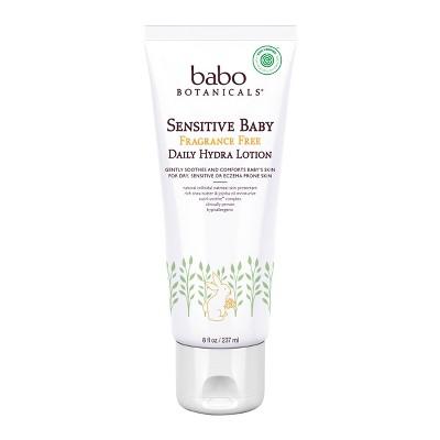 Babo Botanicals Sensitive Baby Fragrance Free Daily Hydra Lotion - 8oz