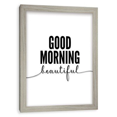 Good Morning Beautiful  Screened Glass Poster Frame - Threshold™