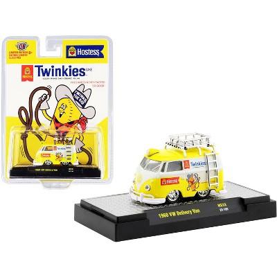 "1960 Volkswagen Delivery Van w/Ladder & Roof Rack White & Yellow ""Twinkies"" Ltd Ed 8250pcs 1/64 Diecast Model Car by M2 Machines"