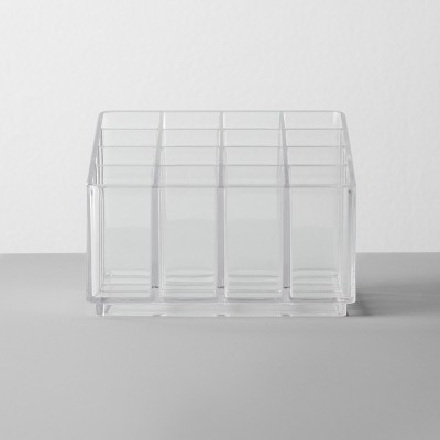 Bathroom Plastic 16 Slot Lipstick Organizer Clear - Made By Design™