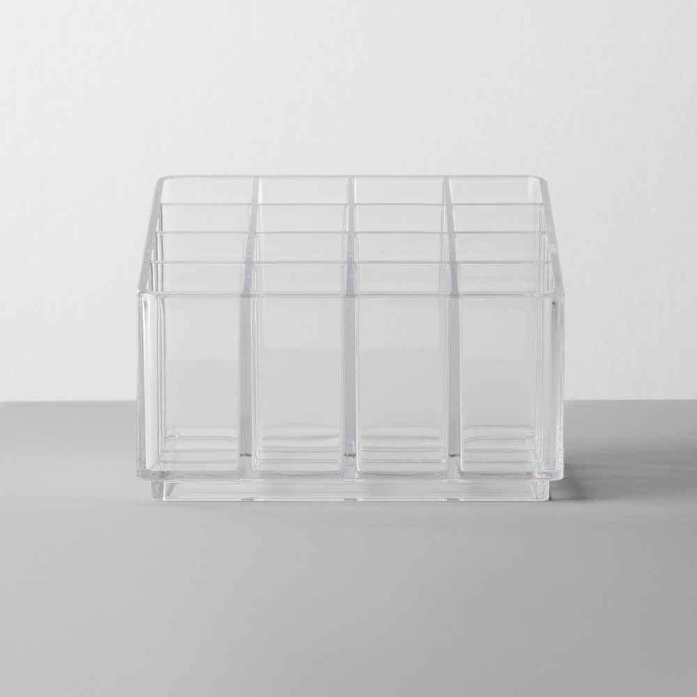 Image of Bathroom Plastic 16 Slot Lipstick Organizer Clear - Made By Design