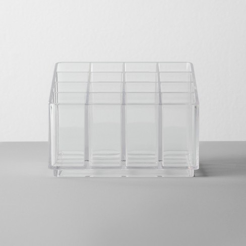Bathroom Plastic 16 Slot Lipstick Organizer Clear - Made By Design™ - image 1 of 3